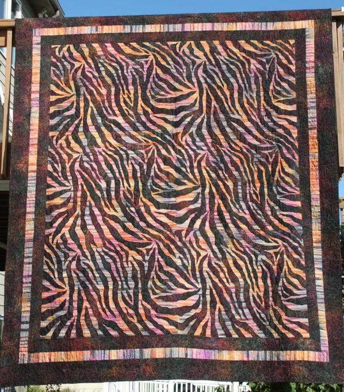 Zebra Quilting Patterns : Quilt Craft Distributors - pattern from Hallbrook Designs : The Wild Zebra! Quilt Pattern